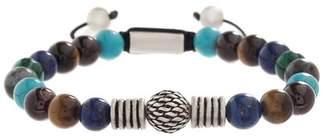 Steve Madden Multi-Colored & Textured Beaded Adjustable Bracelet