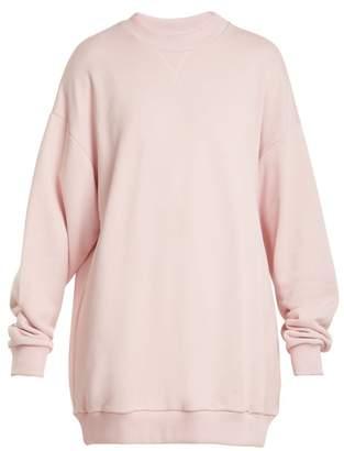 Marques Almeida Marques'almeida - Oversized Cotton Blend Sweatshirt - Womens - Light Pink