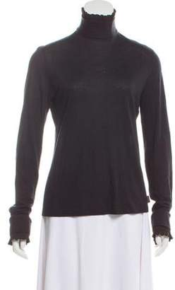 Akris Pleated Cashmere Top Black Pleated Cashmere Top