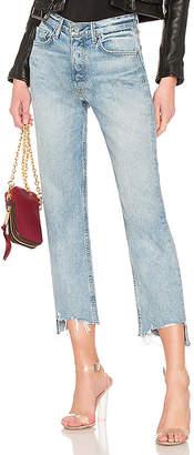 GRLFRND Helena Crop High-Rise Straight Jean.