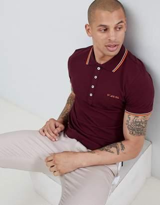Diesel T-Randy- broken tipped logo polo shirt burgundy