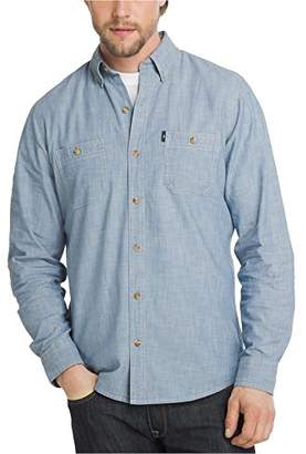 G.H. Bass & Co.. Men's Essential Double Pocket Textured Long Sleeve Shirt