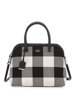 Kate Spade New York Cameron Street Margot Plaid Satchel Bag, Light Shale/Multi $328 thestylecure.com