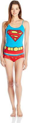 Briefly Stated Women's Superman Uniform Cami Panty Set with Cape