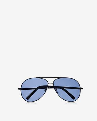 Express Black Metal Frame Aviator Sunglasses