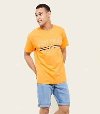 New Look Orange San Fran Slogan Front T-Shirt