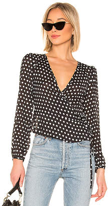 About Us Tamia Wrap Tie Top