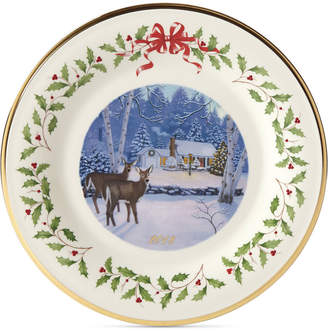 Lenox 2018 Holiday Outdoor Cabin Forest Plate