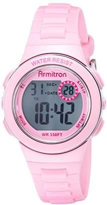 Armitron Sport Women's 45/7046PNK Digital Chronograph Pink Resin Strap Watch