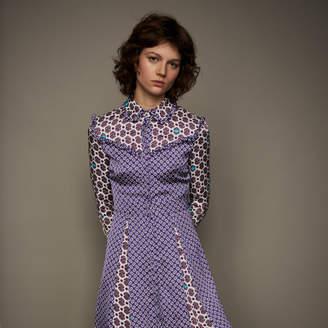 Maje Printed satin dress