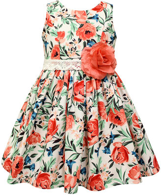 Jayne Copeland Floral Print Cotton Dress, Toddler & Little Girls (2T-6X) $64 thestylecure.com