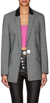 Alexander Wang Women's Sleeve-Detail Houndstooth One-Button Blazer