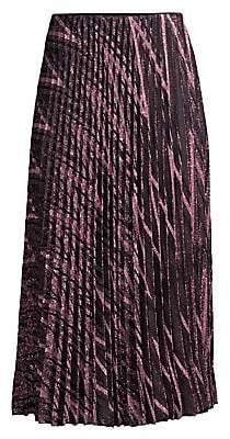 b862b85be7 M Missoni Women's Zigzag Lurex Knit Pleated Midi Skirt