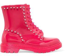 Red(V) Red(v) Studded Rubber Rain Boots