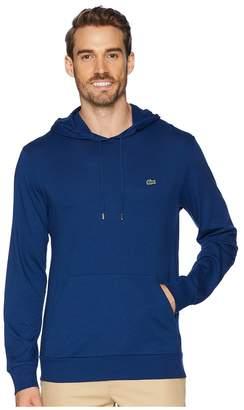 Lacoste Long Sleeve Hoodie Jersey T-Shirt w/ Central Pocket Men's Sweatshirt