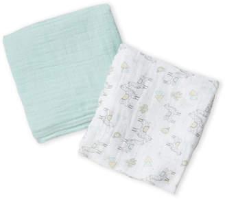 Baby Essentials Kyle & Deena Two-Pack Llama Muslin Swaddle Blanket Set