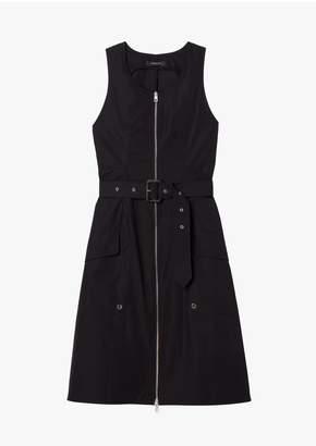 Derek Lam Belted Organic Cotton Tank Dress With Topstitch Detail