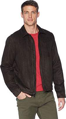 Perry Ellis Men's Faux Suede Shirt Jacket