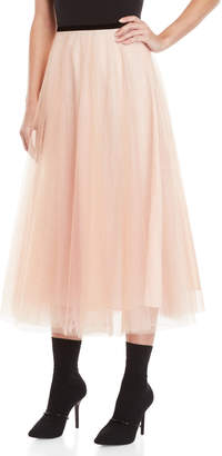 Manoush Glitter Tulle Midi Skirt