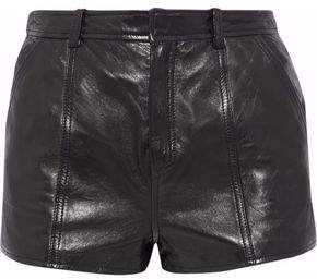 RED Valentino Lace-Up Leather Shorts