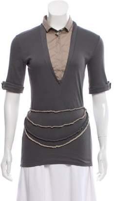 Brunello Cucinelli Short Sleeve Knit Top