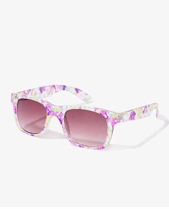Forever 21 F4331 Floral Wayfarer Sunglasses