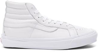 Vans Leather OG SK8-HI LX in White   FWRD