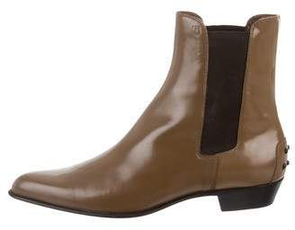 Tod's Patent Leather Ankle Boots w/ Tags