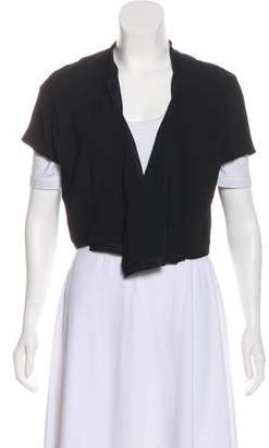 Reed Krakoff Short Sleeve Cropped Cardigan
