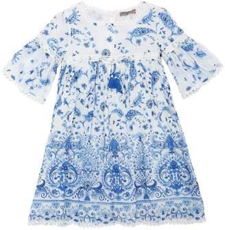 Ermanno Scervino Printed Cotton & Silk Muslin Dress