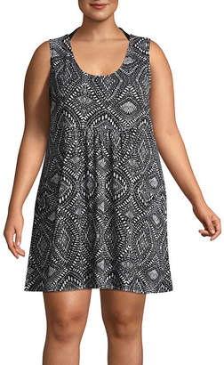Porto Cruz Diamond Swimsuit Cover-Up Dress-Plus