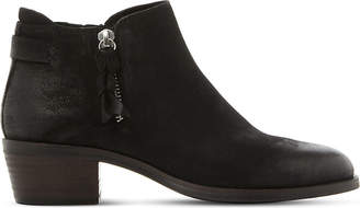 Steve Madden Ladies Black Casual Kyle Suede Heeled Ankle Boots