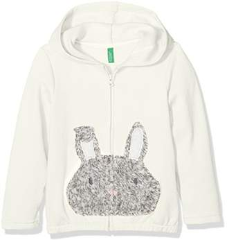 Benetton Girl's Jacket W/Hood Longsleeve Cotton Blend (White 10r), (Size: XX)