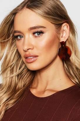 boohoo Marble Resin Double Circle Earrings