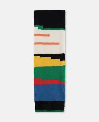 Stella McCartney Striped Knit Scarf, Men's