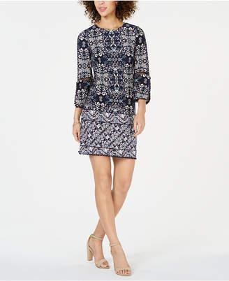 15967acf22b Vince Camuto Printed Jersey-Knit Shift Dress