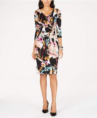 Thalia Sodi Printed Faux-Wrap Dress