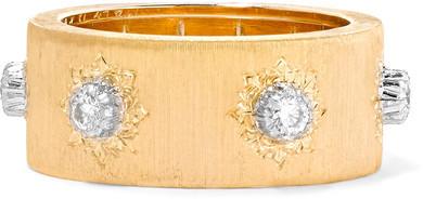 BuccellatiBuccellati - Macri 18-karat Yellow And White Gold Diamond Ring - 54