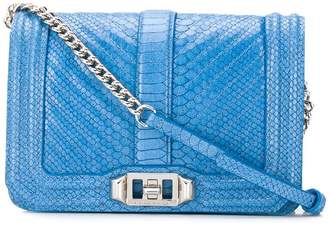 Rebecca Minkoff embossed python crossbody bag