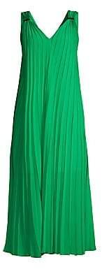Escada Sport Women's Daheem V-Neck Pleated Maxi Dress