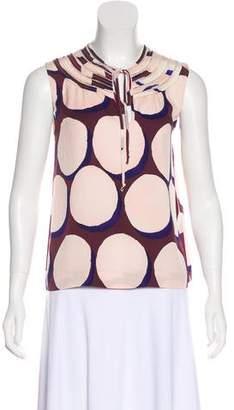 Diane von Furstenberg Polka Dot Print Silk Top