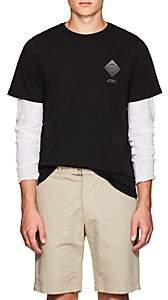 Saturdays NYC Men's Diamond Spiral Cotton T-Shirt - Black
