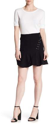 Romeo & Juliet Couture Lace-Up Flared Ruffle Skirt