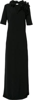 ruffle applique gown