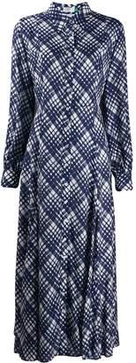 Rixo plaid print shirt dress