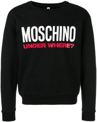Moschino logo slogan sweatshirt