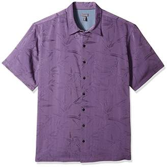 Van Heusen Men's Size Big and Tall Jacquard Short Sleeve Shirt
