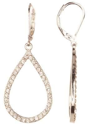 Joe Fresh Prong Set Glass Crystal Teardrop Drop Earrings