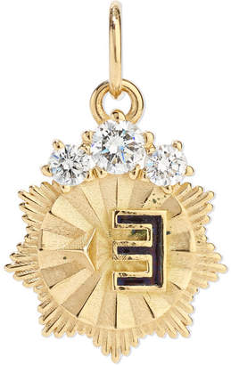 Foundrae - New Beginning 18-karat Gold, Diamond And Enamel Pendant