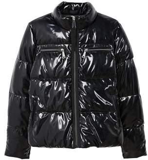 Vinyl quilted coat